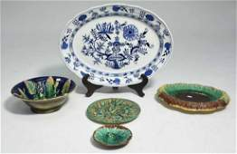 Majolica and Meissen Pottery