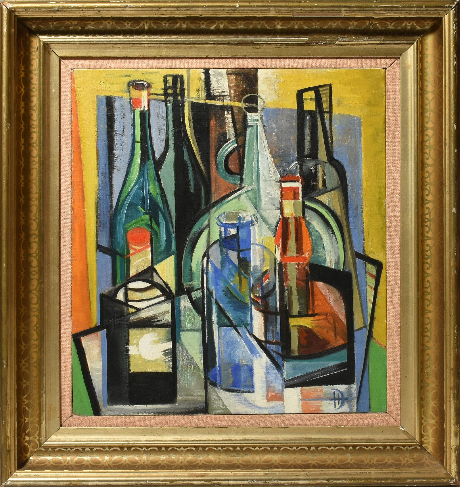 Dorothy Humphry Cubist Oil