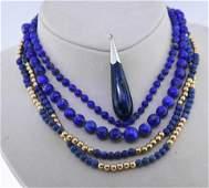 Lapis Jewelry Lot
