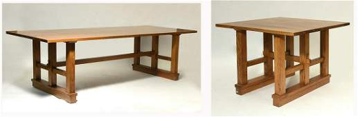 Large Arts and Crafts Oak Dining Table