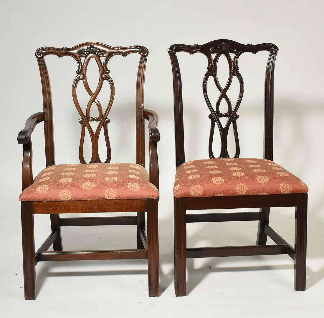 Set of Chippendale Dining Chairs