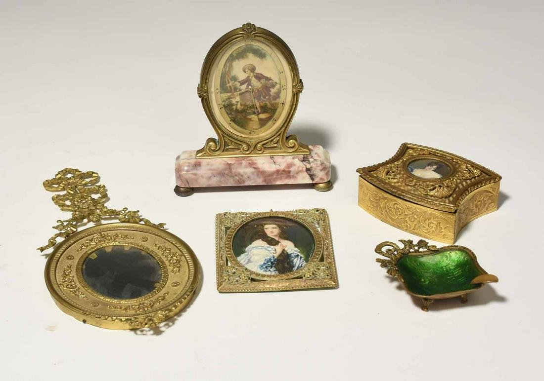 French Dore Gilt Items