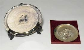Sterling Lincoln Mint Plate with Other