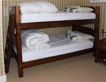 Rustic Pine Bunk Beds