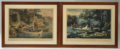 Two Large Folio Currier and Ives