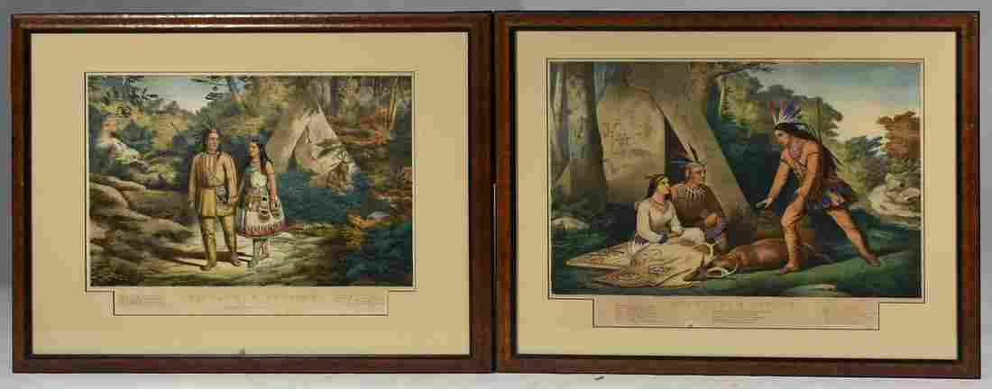 Two Currier & Ives Prints, Hiawatha