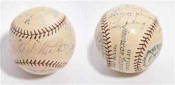 1928 Babe Ruth, Lou Gehrig baseball