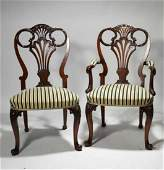 Set of 12 Queen Anne style dining chairs