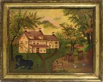 American school 19th C Primitive painting