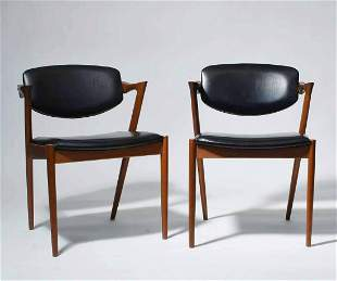 Kai Kristiansen (Danish, B. 1929). Pair of Teak Dining