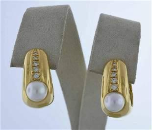 18kt yellow gold huggie hoop earrings