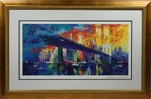 LeRoy Neiman (American, 1921 - 2012). Brooklyn Bridge,