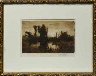 Stephen Parrish (American, 1846-1938). A Florida Swamp,