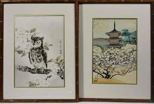 Two Ukiyo-E Japanese Woodblock Prints