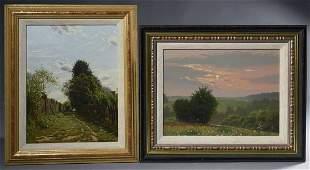 Andrei Gerasimov (Russian, B. 1963). Two paintings