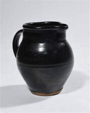 Bernard Leach glazed earthenware handled pouring
