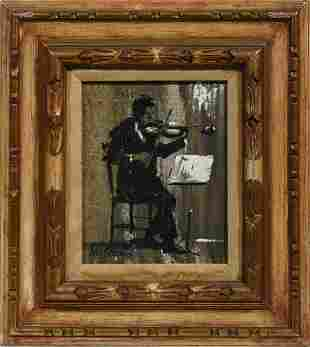William Sloan (American, 1870 - 1965)Oil on canvas