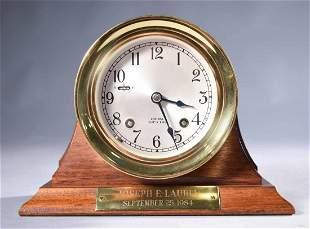 Chelsea Ships Bell brass shelf clock