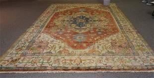 Contemporary Heriz style room size Oriental wool rug