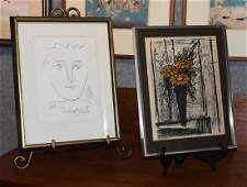 Pablo Picasso and Bernard Buffet, Two prints