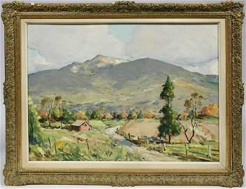 JOHN F. ENSER, EARLY-MID 20TH C. O/CB, MT. MONADNOCK,