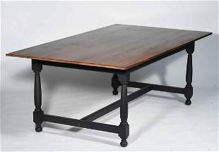 CONTEMPORARY VT TIGER MAPLE DINING TABLE MADE BY THE