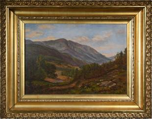 OIL ON CANVAS ATTRIBUTED TO SAMUEL LANCASTER GERRY.