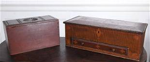 TWO EARLY NEW ENGLAND BOXES.