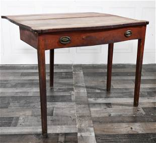 COUNTRY FEDERAL RED PAINTED CARD TABLE
