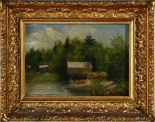 N.H. TROTTER O/B LAKE EAGLESMERE 1882
