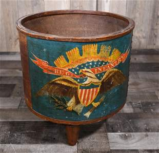 1862 A. ROGERS EAGLE INFANTRY DRUM SHELL.
