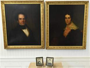 PAIR OF 19TH C. AMERICAN PORTRAITS, LITCHFIELD, CT
