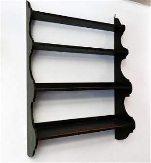 19TH C. STENCILED HANGING SHELVES