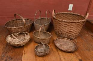 COLLECTION OF ANTIQUE BASKETS