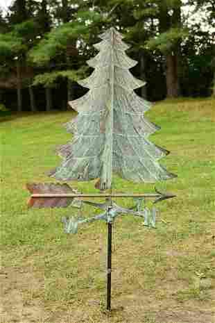ANTIQUE CHRISTMAS TREE WEATHERVANE