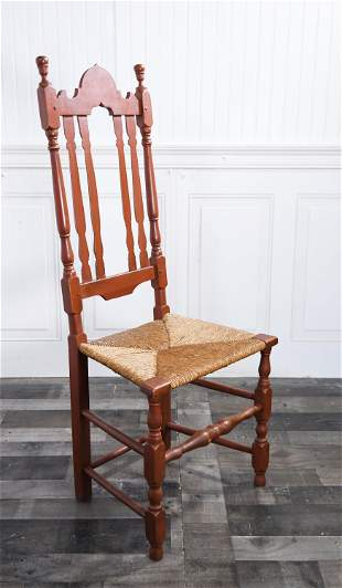 18TH C. AMERICAN BANNISTER SIDE CHAIR.