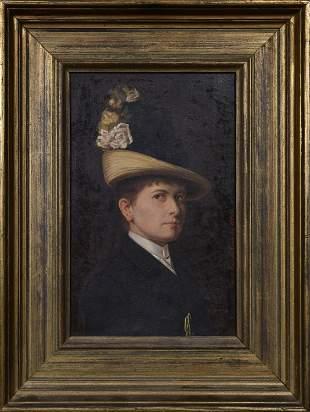 1888 OIL ON CANVAS PORTRAIT OF MARIE ZAJACKOWSKI