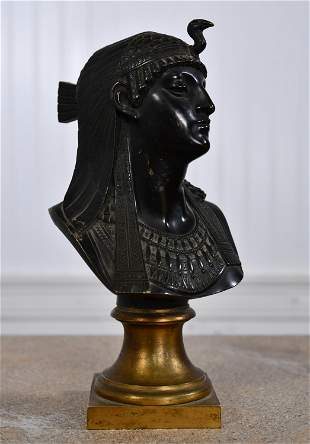 19TH C. BRONZE EGYPTIAN REVIVAL BUST