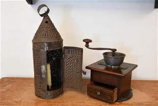 PAUL REVERE LANTERN & COFFEE MILL