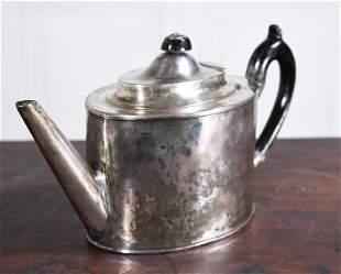 18TH C. SILVER GEORGIAN TEA POT
