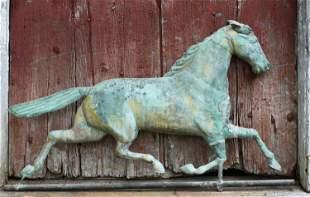 LATE 19TH C. RUNNING HORSE WEATHERVANE