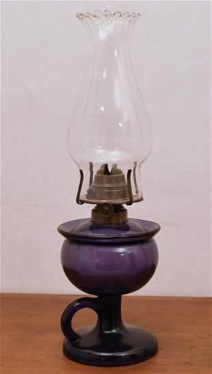 RARE AMETHYST FINGER LAMP.
