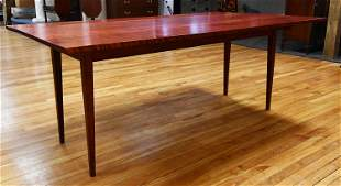 FEDERAL STYLE TIGER MAPLE HARVEST TABLE