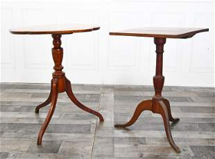 TWO 19TH. AMERICAN CANDLE STANDS