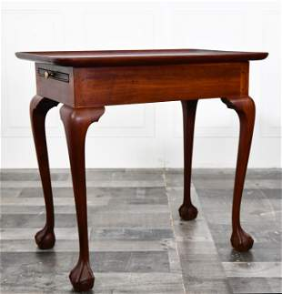 SWEET DIMINUTIVE CHIPPENDALE STYLE TEA TABLE