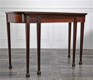 JAMES B. HENDERSON MAHOGANY CONSOLE TABLE