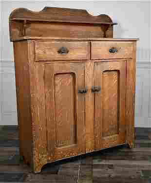 GRAIN PAINTED ANTIQUE JELLY CUPBOARD