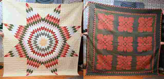 TWO 19TH C. ANTIQUE QUILTS