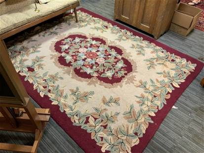 20TH C. HAND HOOKED RUG