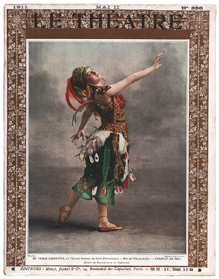 Russian ballet,Tamara Karsavina, Leon Bakst. Le Theatre